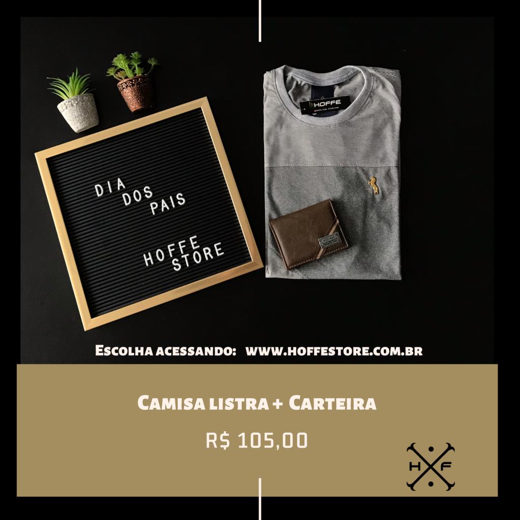 KIT CAMISA LISTRAS + CARTEIRA