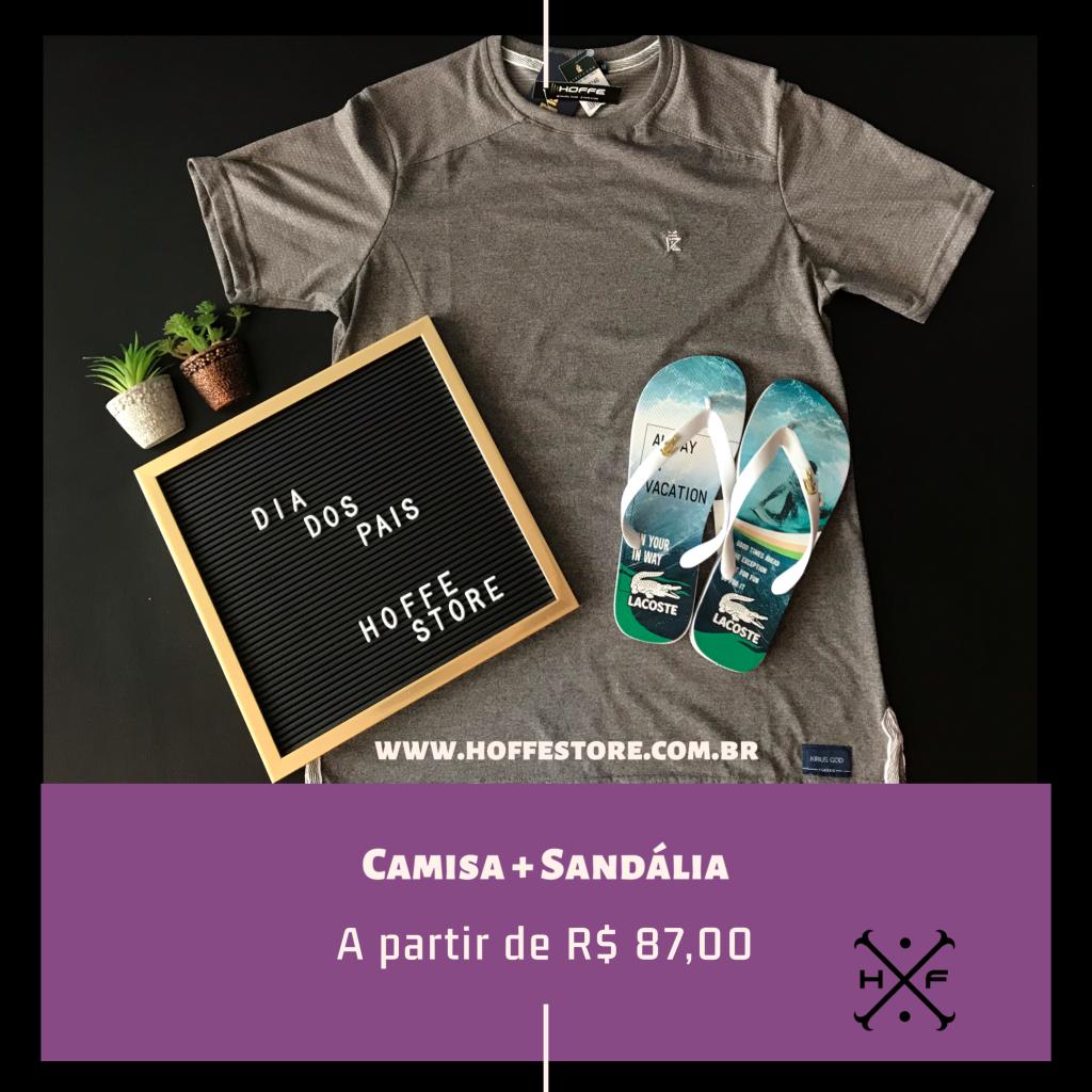 KIT CAMISA + SANDÁLIA
