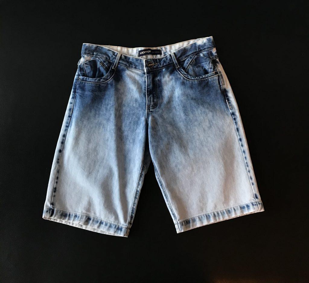 Bermuda jeans sem lycra degradê