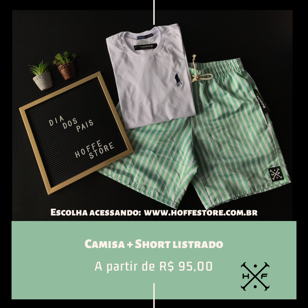 KIT CAMISA + SHORT LISTRADO