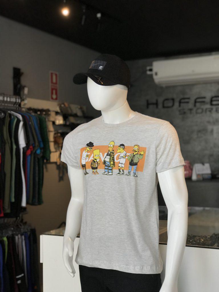 Camisa cinza simpsons Gang Off (APENAS TAMANHO P)