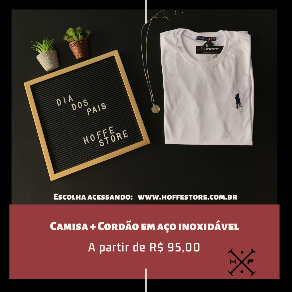 KIT CAMISA + CORDÃO
