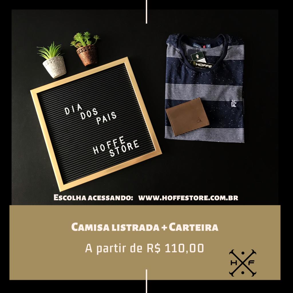 KIT CAMISA LISTRADA + CARTEIRA