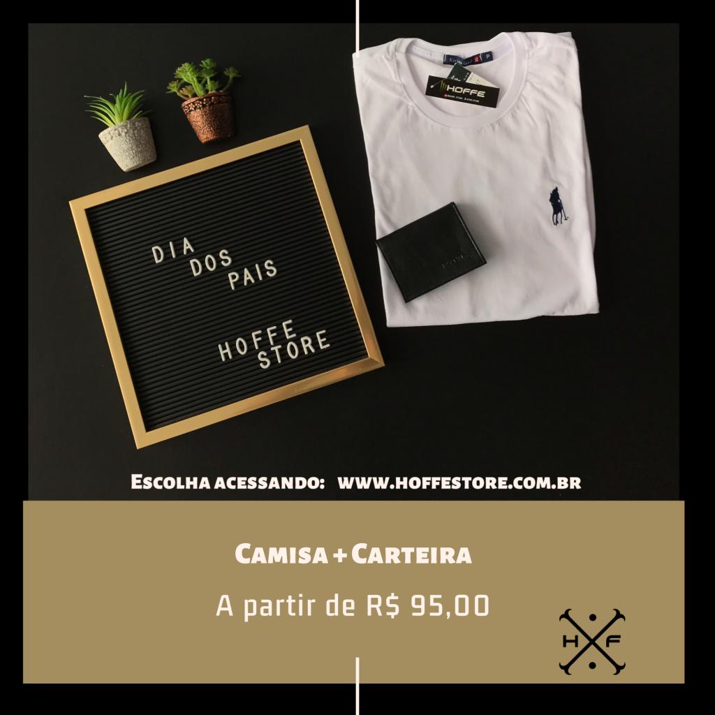 KIT CAMISA BÁSICA + CARTEIRA