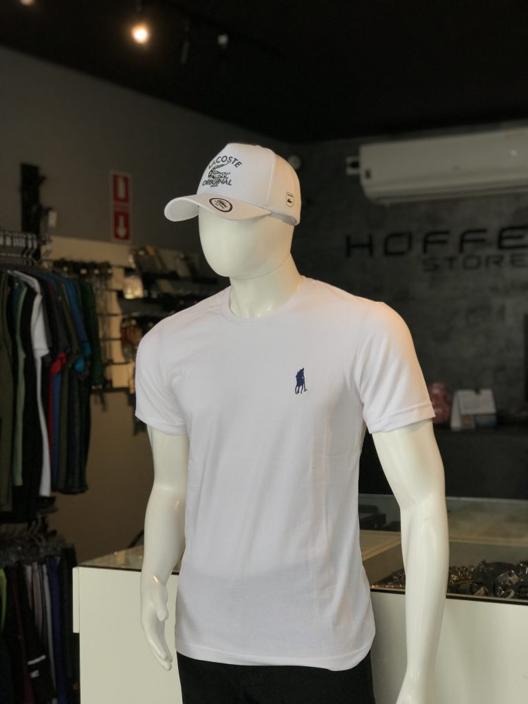 Camisa branca básica 100% algodão