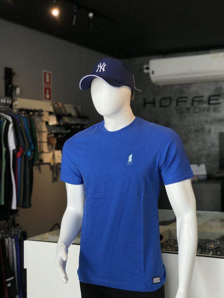 Camisa azul básica 100% algodão (APENAS TAMANHO P)