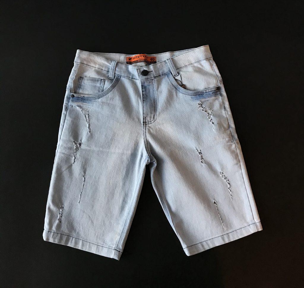 Bermuda jeans claro com lycra