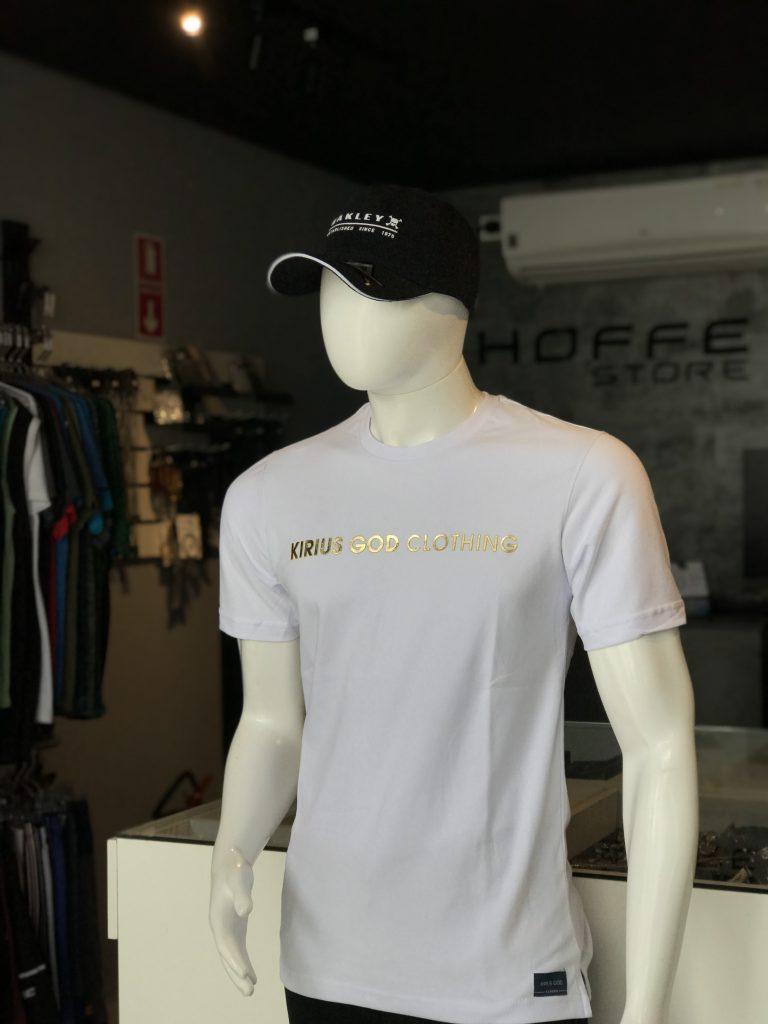 Camisa branca em malha suedine
