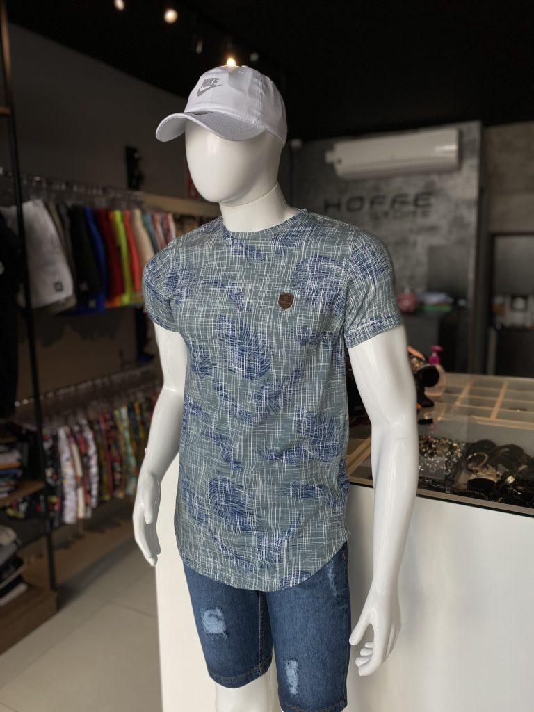 Camisa longline estampada