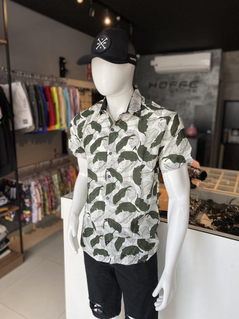 Camisa de botão estampada floral