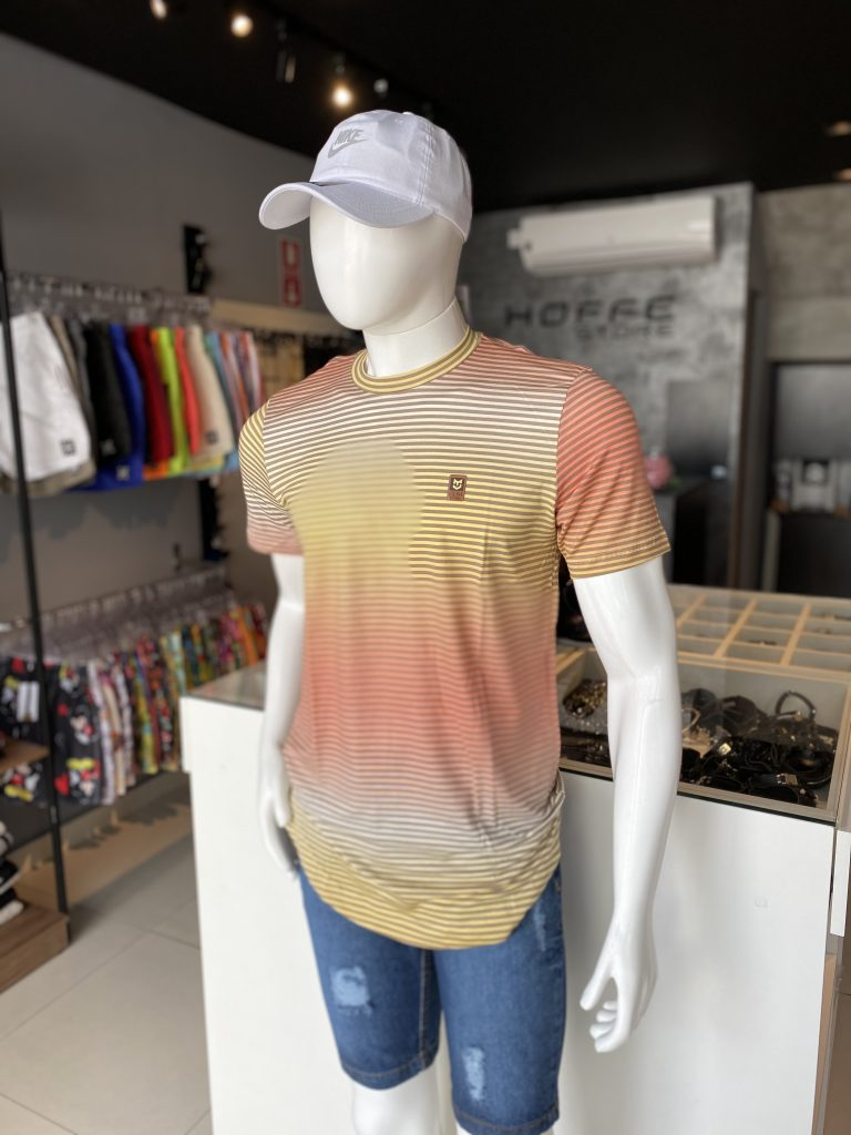 Camisa Longline Listrada