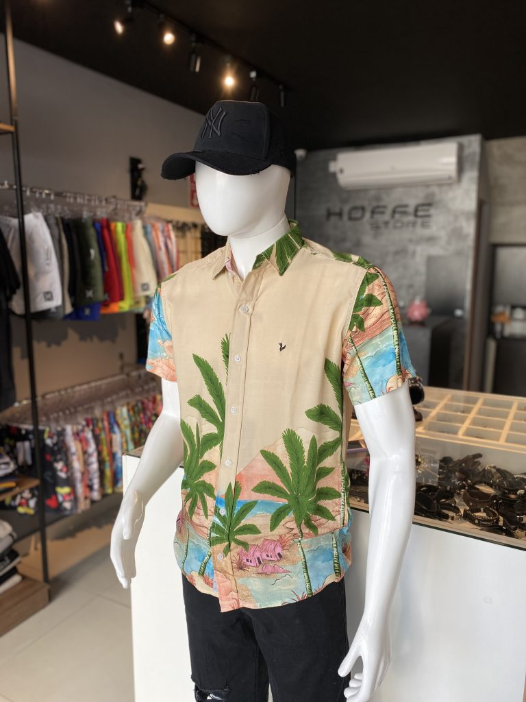 Camisa de botão em viscose