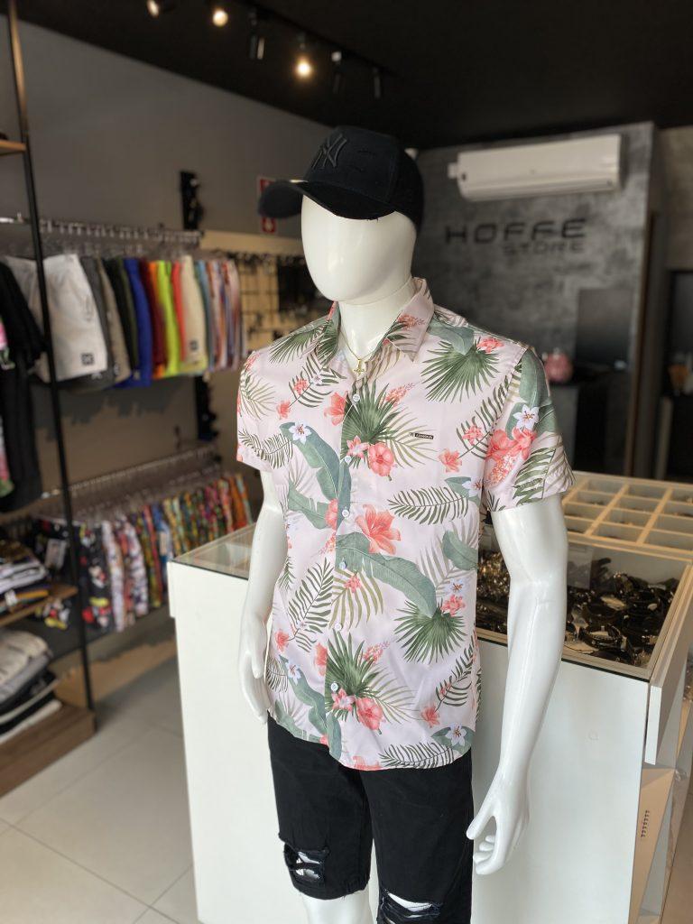 Camisas estampada de botão