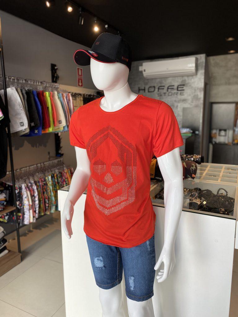 Camisa longline com aplicação