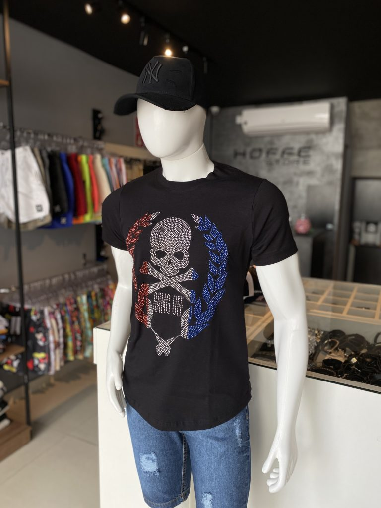 Camisa Longline Caveira GANGOFF
