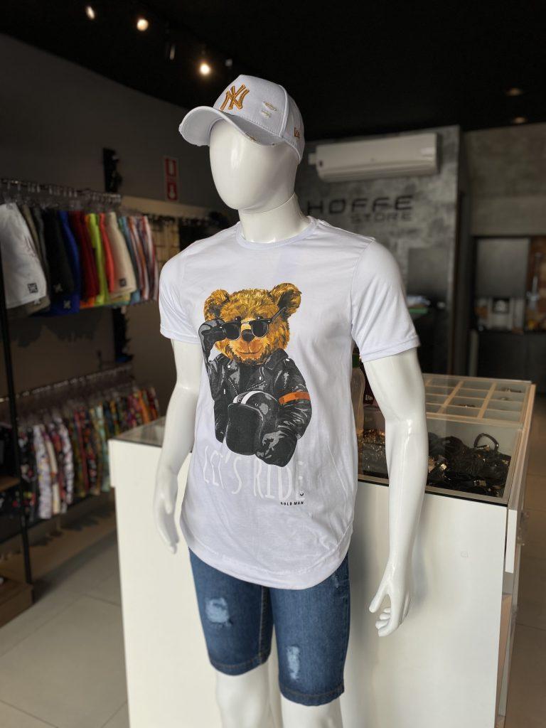 Camisa Longline Urso Gold Man