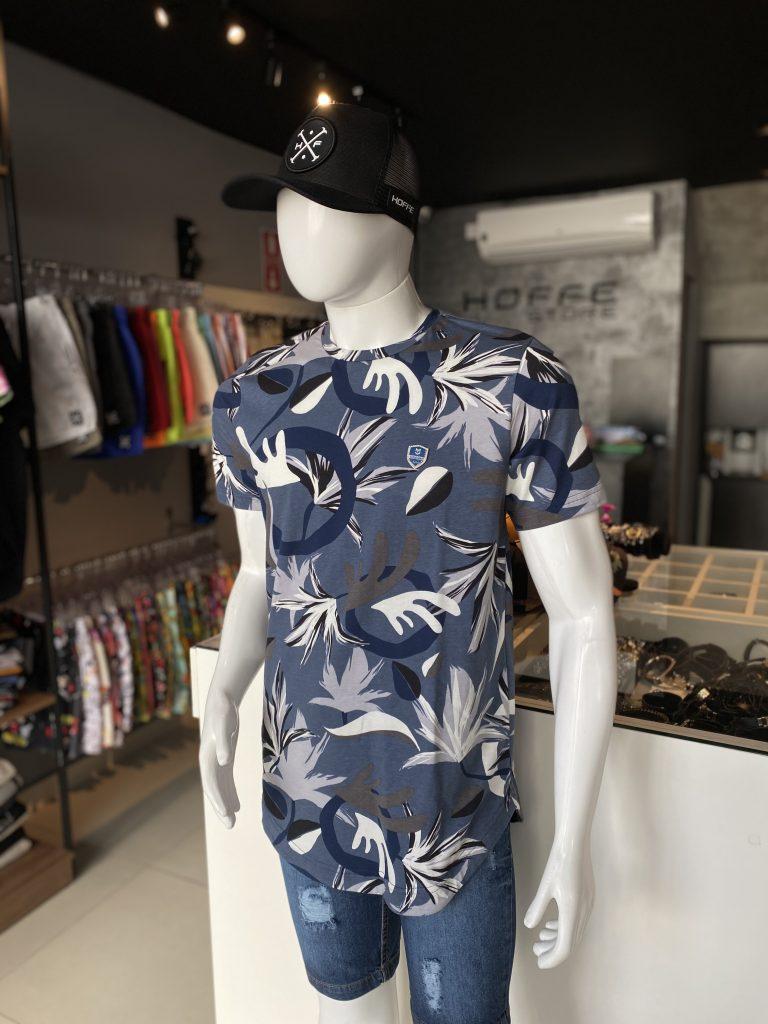 Camisa Longline floral