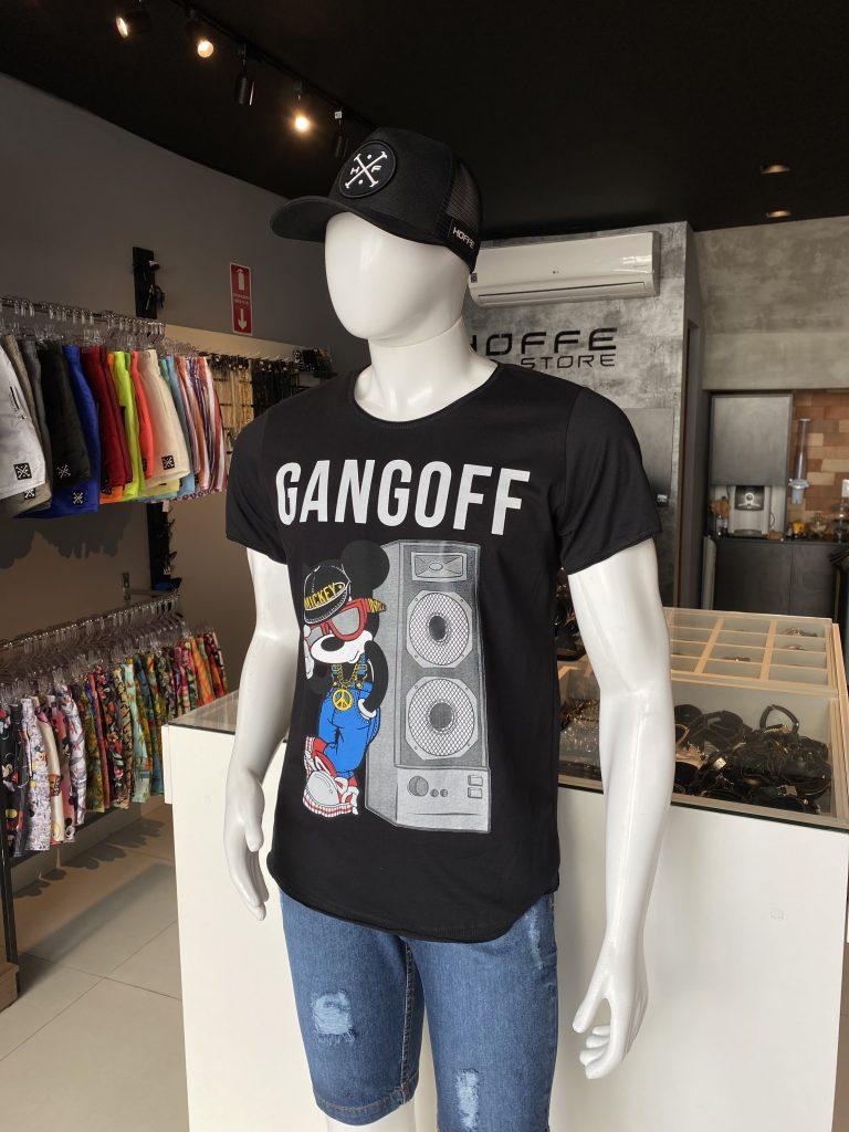 Camisa Longline estampada GANGONFF