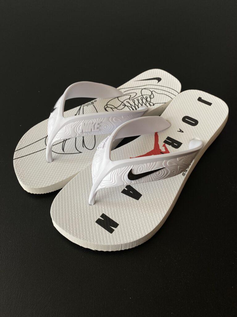 Sandália branca Nike Air Jordan
