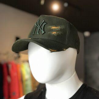 Boné New Era Rasgado Verde/Laranja